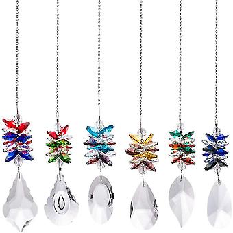 Prisma Crystal Ball Chandelier Rainbow Chandelier Living Room Accessories Mix 6 Colores de estilo