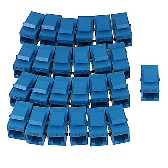 O cards adapters 25pcs cat6 rj45 blue coupler female adapter for keystone panel