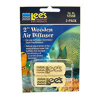 """Lees Wood Airstone Air Diffuser - 2"""" Long (2 Pack)"""