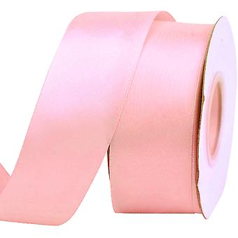 25m Blossom Pink 38mm Wide Satin Ribbon for Crafts