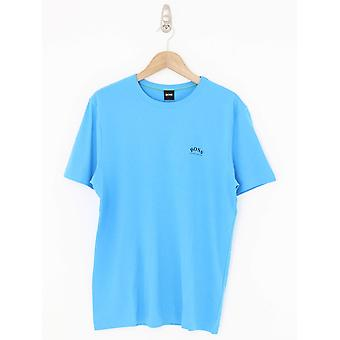 BOSS Athleisure Curved Logo Tee - Open Blue