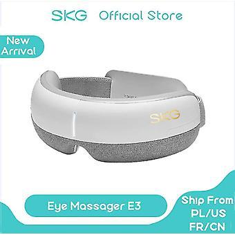مدلكين skg تدليك العين الذكية e3 وسادة هوائية شياتسو بلوتوث 5modes الجلد ems ودية| أداة تدليك العين