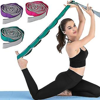 Exercise bands yoga assisted elastic band exercise stretch belt dance training tension band rose red