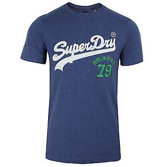 Superdry miesten kirkkaansininen marl lähde t-paita