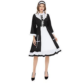 Halloween Virgin Mary Nun Playing Uniform French Farm House Maid Costume
