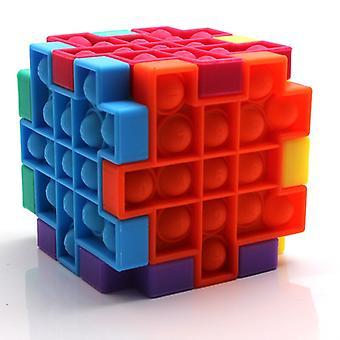 Pops Kit Cube Fidget Lindre Stress Leker Modell Boble Anti-stress Voksne Barn Sensorisk Silikon Puslespill Klem Barn Gave