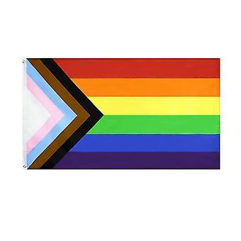 Lgbt Gay Rainbow Progress Pride -lippu