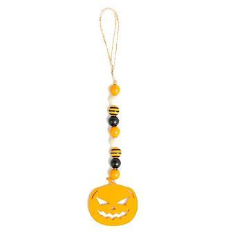 Halloween Wood Garland , Puu helmiä String