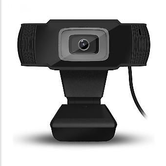 Teräväpiirtoinen ammattimainen web-kamera, Full Hd 480p -videopuhelu, selkeä stereoääni, teräväpiirtovalon korjaus, tuki erilaisia videoneuvotteluja