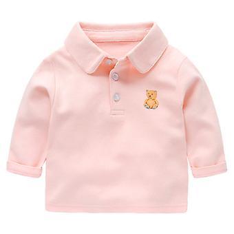 Baby Polo Shirt Long Sleeve T-shirt Toddler Top Casual