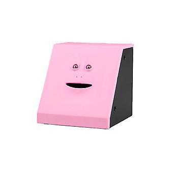 Swotgdoby الوجه الخنزير البنك لصندوق القطع النقدية، لطيف الوجه مربع، للأطفال هدية هدية ديكور المنزل