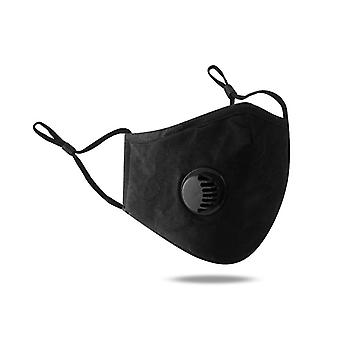 Máscara 100% algodão, Reutilizável, Ajustável, Proteção Respirável e Tridimensional, Preto