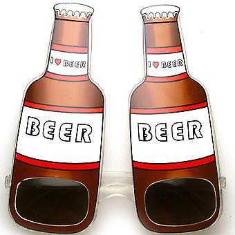 Rakastan Beer olut pullo juominen juhla hauska puolue aurinkolasit