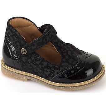 Froddo Girls G2140030-1 T-bar Shoes Black Patent