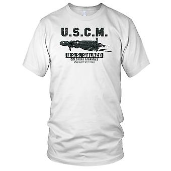 USCM Space Marines USS Sulaco alieni ispirato Mens T-Shirt