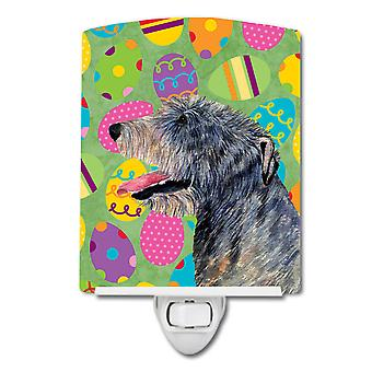 Irish Wolfhound Easter Eggtravaganza Ceramic Night Light
