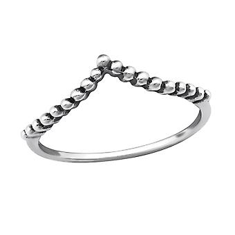 Geometric - 925 Sterling Silver Plain Rings - W32301X