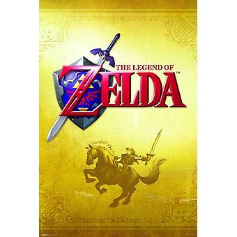 Zelda - Gold juliste Juliste Tulosta