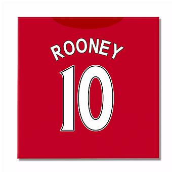 2016-2017 Manchester Canvas Print (Rooney 10)