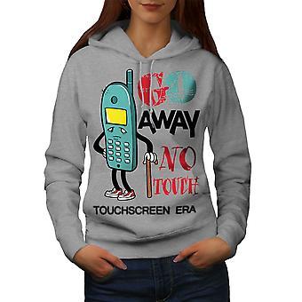 Smartphones Funy Women GreyHoodie | Wellcoda
