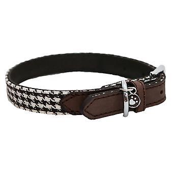 Rosewood Wag N Walk Designer Houndstooth Dog Collar