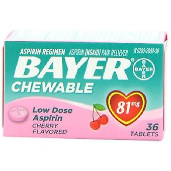 Bayer Cherry Flavored Chewable Low Dose Aspirin Pain Reliever