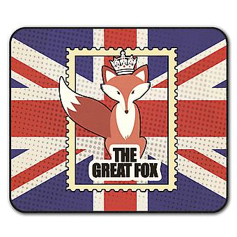 The Great Fox  Non-Slip Mouse Mat Pad 24cm x 20cm | Wellcoda