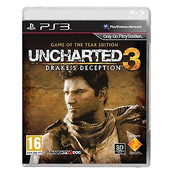 Uncharted 3 Drakes Deception Game of the Year (PS3) - Novo