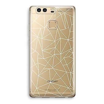 Huawei P9 gjennomsiktig sak (myk) - geometriske linjer hvit