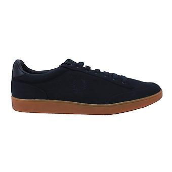 Fred Perry B8248 608 Hopman Twill Leather Trainers