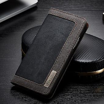 CaseMe Booktasche Flip cas Apple iPhone X / XS Housse Etui case noir