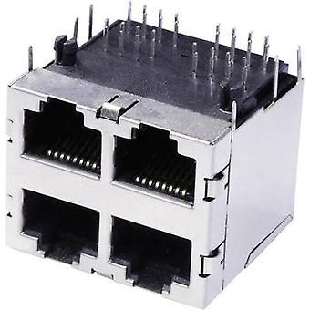 Dobbeltdækker multi-Port 4 x RJ45 stik, horisontale mount 3022S2 Metal econ forbinde 3022S2 1 computer(e)