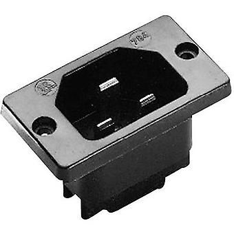 Kaiser 784/sw/C Hot wire connector 784 Series (mains connectors) 784 Plug, vertical mount Total number of pins: 2 + PE 16 A Black 1 pc(s)