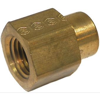 Big A Service Line 3-21942 Brass Pipe, Female Reducing Coupling 1/4