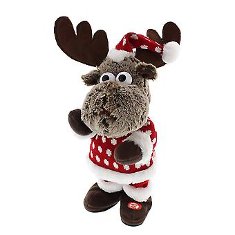 Festive Productions 31cm Animated Reindeer With Jumper Christmas Decoration