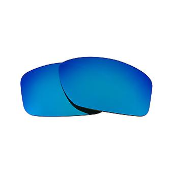 SEEK Replacement Lenses Compatible for Oakley VALVE Polarized Blue Mirror