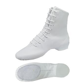 Bottes de garde blanc / Bottes de marie avec semelle partagée / partie de balle en cuir Modèle : 4680-H