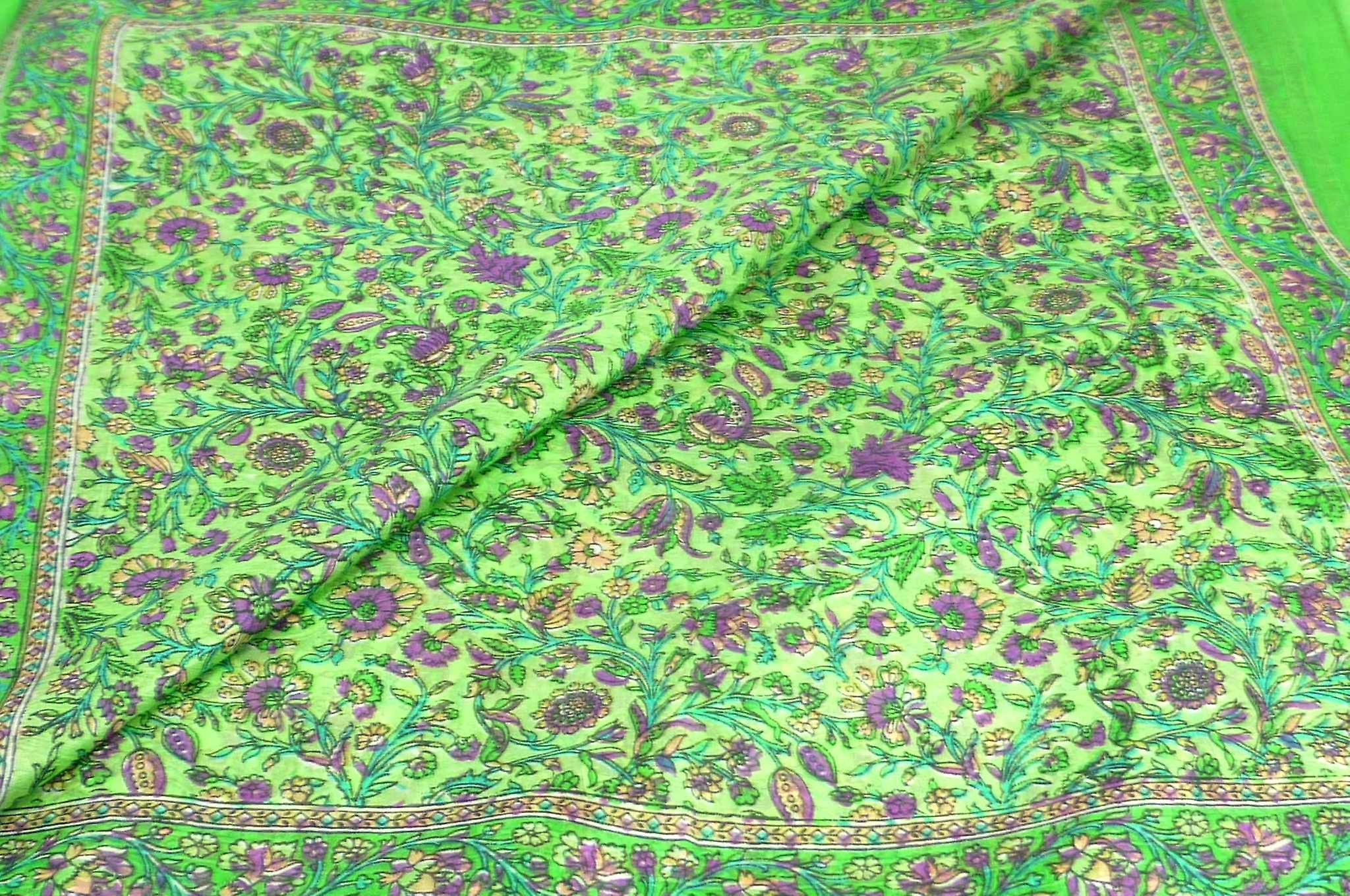 Mulberry Silk Traditional Square Scarf Irma Fern by Pashmina & Silk