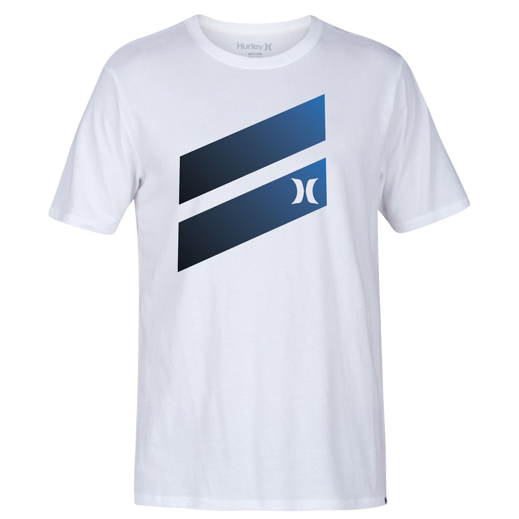 Hurley Men's T-Shirt ~ Icon Slash Gradient white