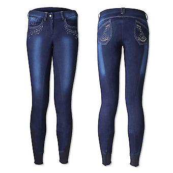 HyPERFORMANCE Womens/Ladies Denim Look Diamante Breeches
