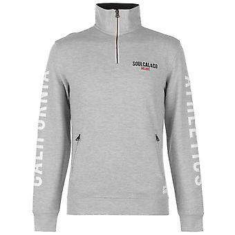 SoulCal Mens Deluxe Funnel Neck Sweatshirt Long Sleeve Sweater