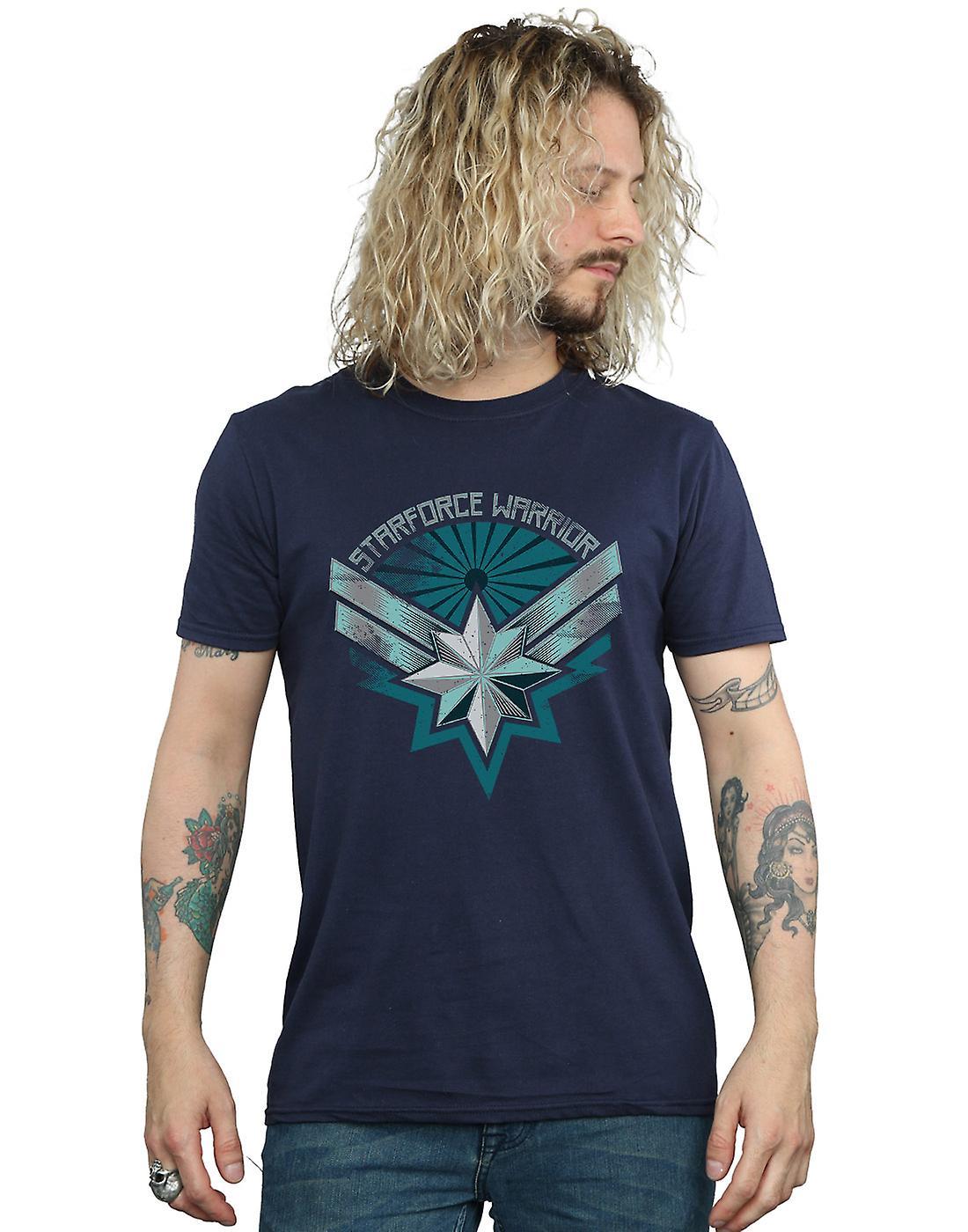 Marvel Men's Captain Marvel Starforce Warrior T-Shirt