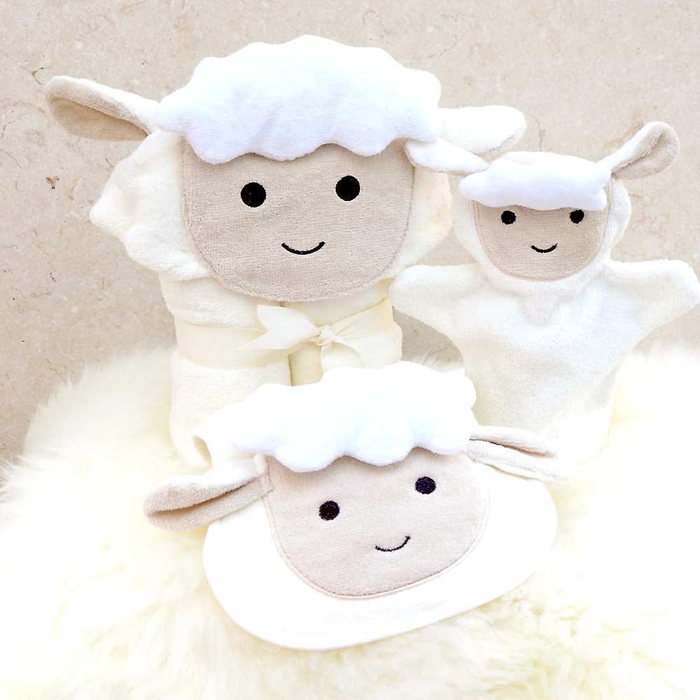 Spring Lamb baby towel gift set