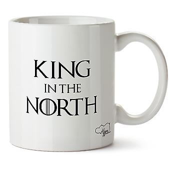 Hippowarehouse King In The North Printed Mug Cup Ceramic 10oz