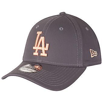 New era 39Thirty Stretch Cap - LA Dodgers graphite / peach