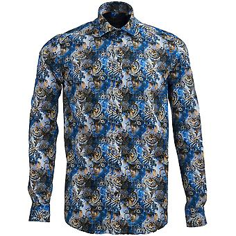 Guide London Cotton Sateen Mens Shirt With Vibrant Colourful Paisley Design