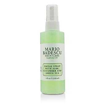 Facial Spray With Aloe Cucumber And Green Tea - For All Skin Types - 118ml/4oz