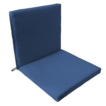 Gardenista® Blue Water Resistant Two Part Chair Seat Pad, Pack of 6