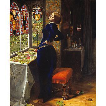 Mariana, John Everett Millais, 50x40cm