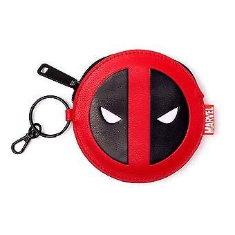 Bioworld Marvel Comics Deadpool ansigt pung rød/sort mønt pose rød GW268775DED